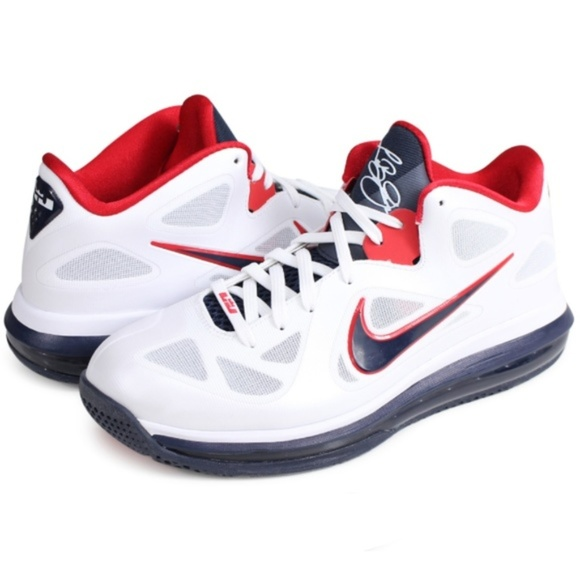 Nike Other - Nike Air LeBron 9 Low USA sneakers red white blue